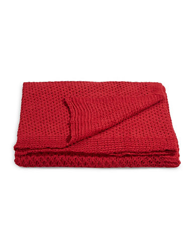 Distinctly Home Chenille Cable Knit Throw-RED-One Size