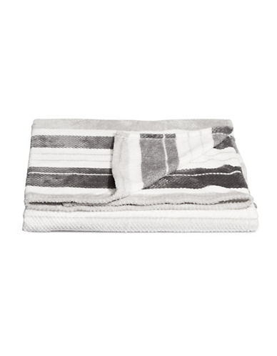 Distinctly Home Jacquard-Stripe Throw Blanket-GREY-One Size