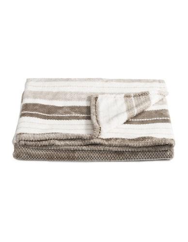 Distinctly Home Jacquard-Stripe Throw Blanket-BEIGE-One Size