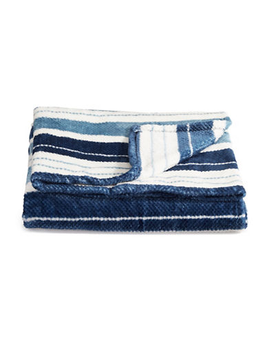 Distinctly Home Jacquard-Stripe Throw Blanket-BLUE-One Size