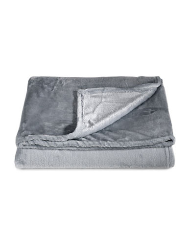 Distinctly Home Fleece Throw-GREY-One Size