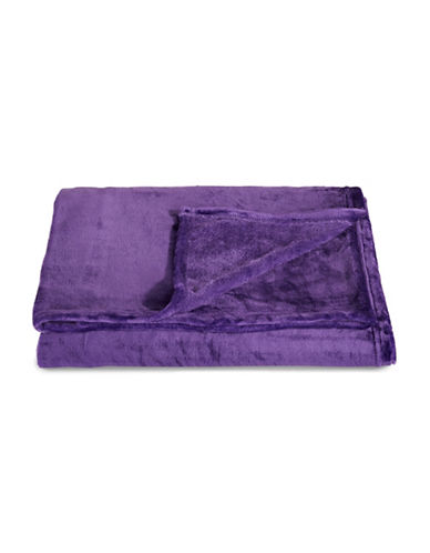 Distinctly Home Fleece Throw-PURPLE-One Size
