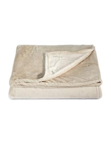 Distinctly Home Fleece Throw-BEIGE-One Size