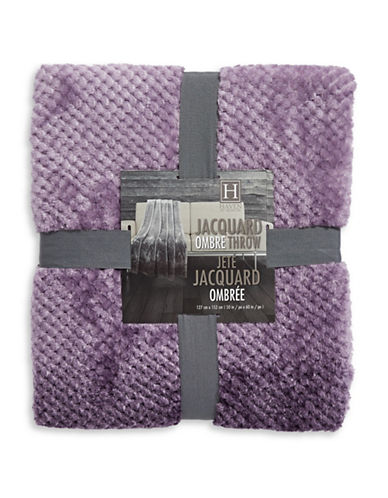 Haven Haven Ombre Jacquard Throw-PURPLE-One Size