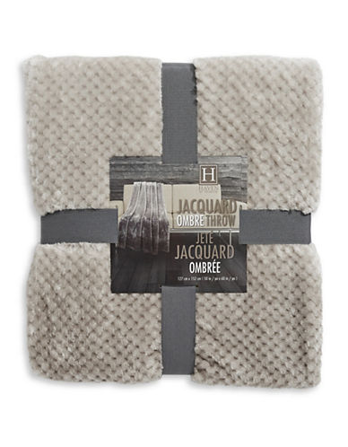 Haven Haven Ombre Jacquard Throw-TAUPE-One Size