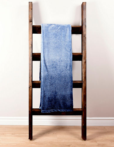 Haven Haven Ombre Jacquard Throw-BLUE-One Size