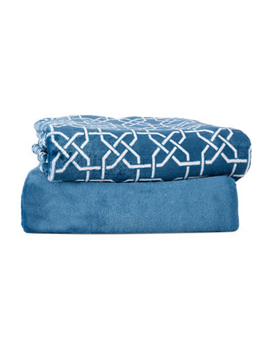 Haven Two-Piece Throw Set-NAVY-One Size