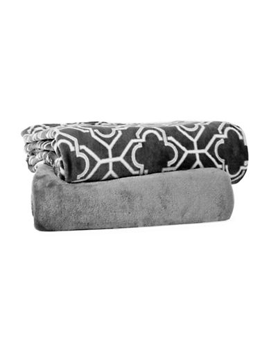 Haven Two-Piece Throw Set-GREY-One Size