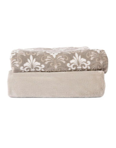 Haven Two-Piece Throw Set-TAUPE-One Size