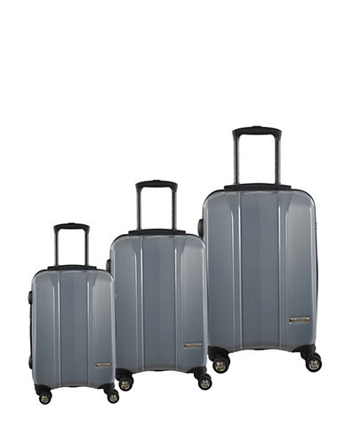 Mcbrine Hard Side Three-Piece 28-Inch Luggage Set-SILVER-3pc
