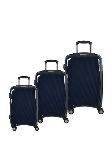 Mcbrine Set of Three Polycarbonate Suitcases 28 Inch-NAVY-3pc
