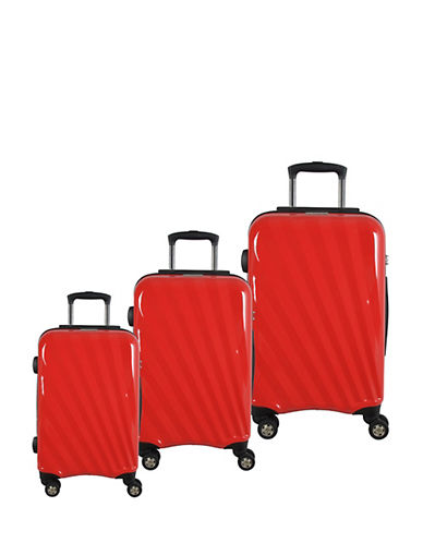 Mcbrine Set of Three Polycarbonate Suitcases 28 Inch-RED-3pc