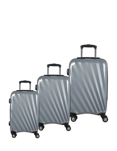 Mcbrine Set of Three Polycarbonate Suitcases 28 Inch-SILVER-3pc