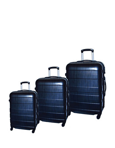 Mcbrine Set of Three ABS Suitcases 28 Inch-BLACK-3pc