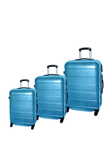 Mcbrine Set of Three ABS Suitcases 28 Inch-GREEN-3pc
