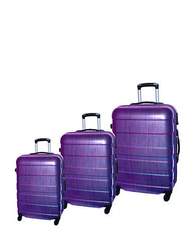 Mcbrine Set of Three ABS Suitcases 28 Inch-PURPLE-3pc