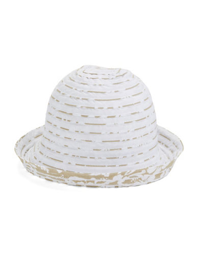 Parkhurst Reversible Botanical Sunguard Bucket Hat-SAND/WHITE-One Size