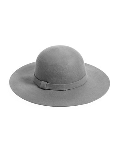 Parkhurst Wool Knotted Band Floppy Hat-GREY-One Size