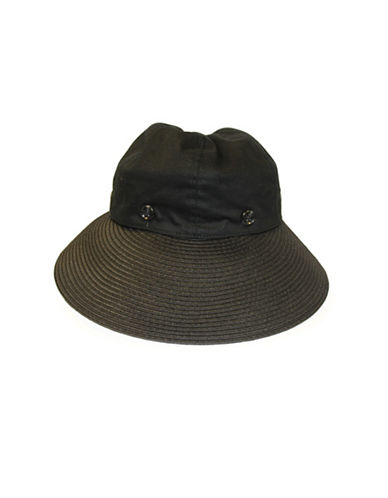 Parkhurst Convertible Visor Hat-BLACK-One Size
