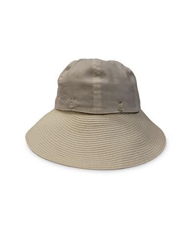 Parkhurst Convertible Visor Hat-BEIGE-One Size