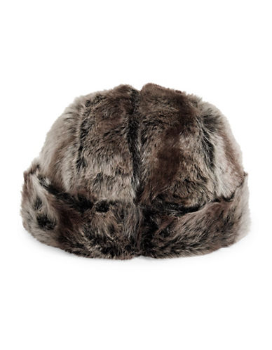 Parkhurst Faux Fur Hat-BROWN-One Size