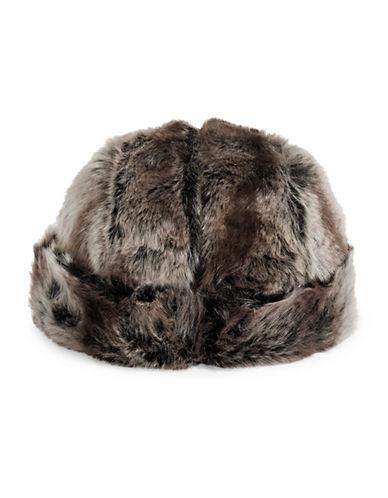 Parkhurst Faux Fur Hat-BROWN-One Size
