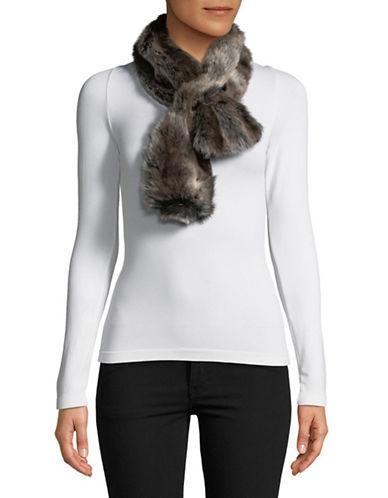 Parkhurst Faux Fur Shawl-BROWN-One Size