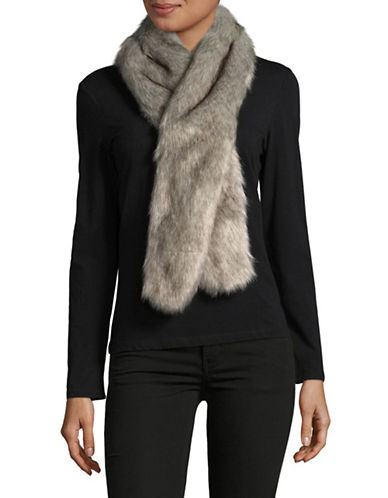 Parkhurst Faux-Fur Scarf-GRANITE FOX-One Size