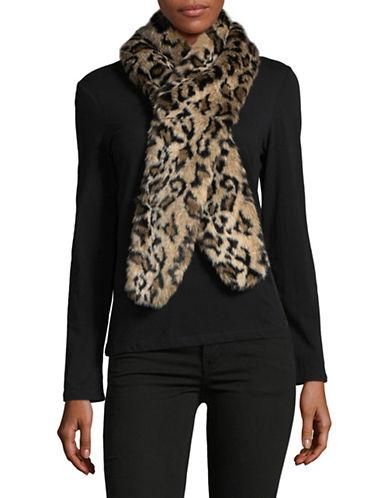 Parkhurst Faux-Fur Scarf-TAN LEOPARD-One Size