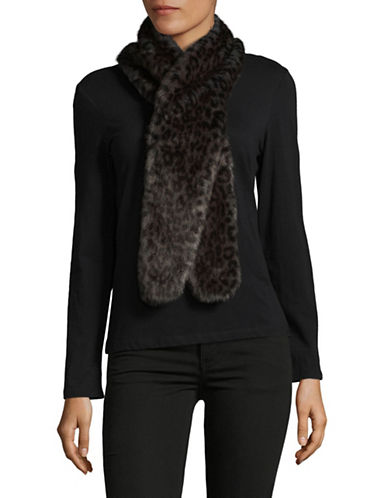 Parkhurst Faux-Fur Scarf-BLACK CHARCOAL-One Size