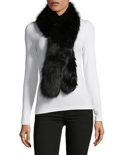 Parkhurst Faux-Fur Scarf-BLACK MINK-One Size