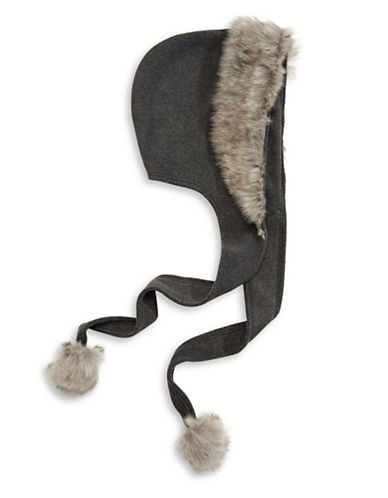 Parkhurst Faux Fur Fleece Hood-CHARCOAL/GRANITE-One Size