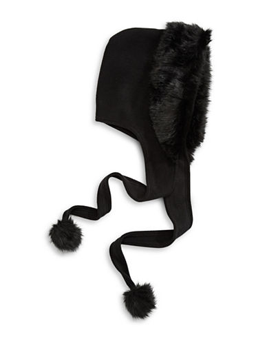 Parkhurst Faux Fur Fleece Hood-BLACK MINK-One Size