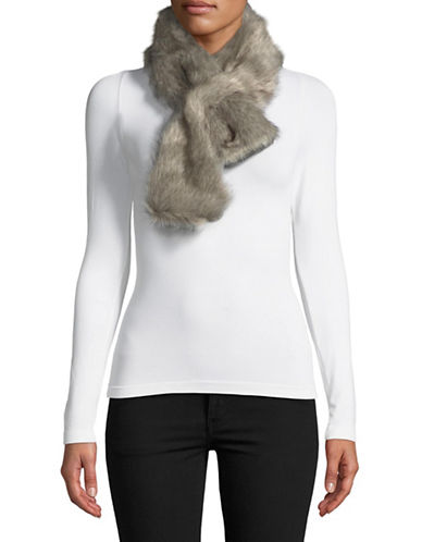 Parkhurst Faux Fur Shawl-GRANITE-One Size
