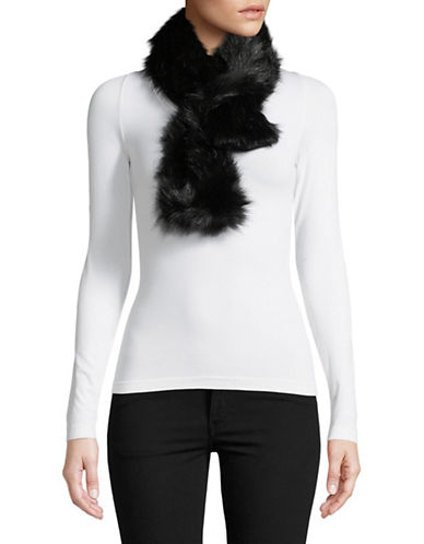 Parkhurst Faux Fur Shawl-BLACK-One Size