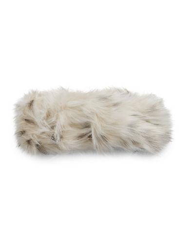 Parkhurst Arctic Leopard Faux Fur Headband-NATURAL-One Size