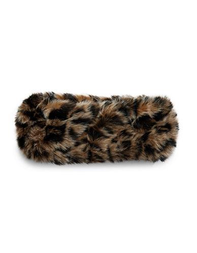 Parkhurst Arctic Leopard Faux Fur Headband-TAN LEOPARD-One Size