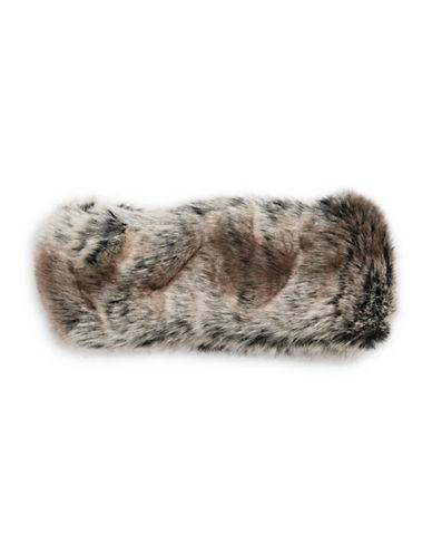 Parkhurst Arctic Leopard Faux Fur Headband-TUNDRA-One Size