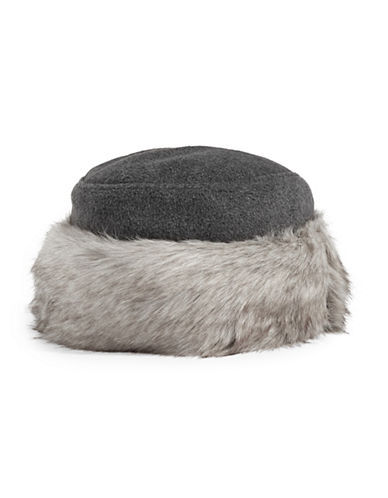 Parkhurst Faux Fur Trim Hat-CHARCOAL/GRANITE-One Size