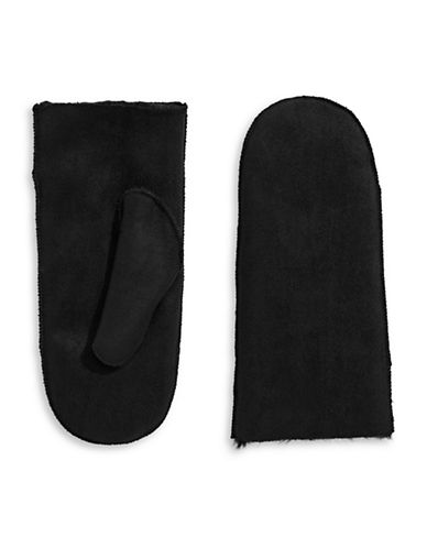 Parkhurst Faux Shearling Mittens-BLACK-One Size