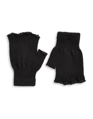 Parkhurst Fingerless Wool Gloves-BLACK-One Size