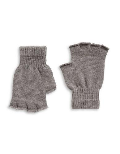 Parkhurst Fingerless Wool Gloves-GREY-One Size