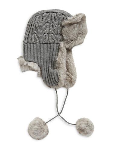 Parkhurst Reversible Faux Fur Trapper Hat-GREY-One Size