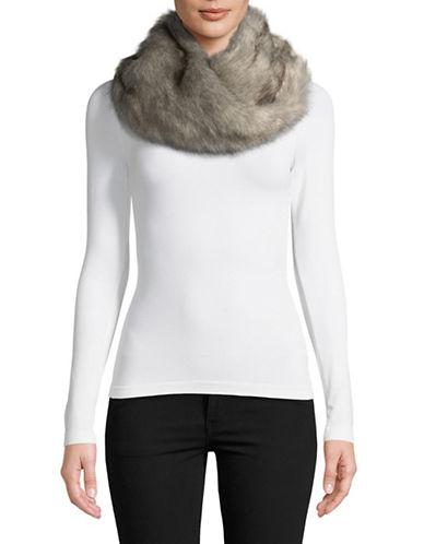 Parkhurst Faux Fur Twist Scarf-GRANITE-One Size
