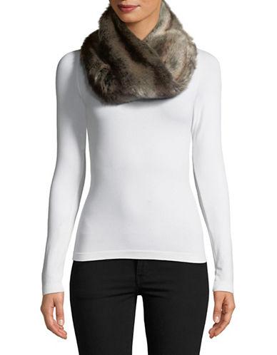 Parkhurst Faux Fur Twist Scarf-BROWN-One Size