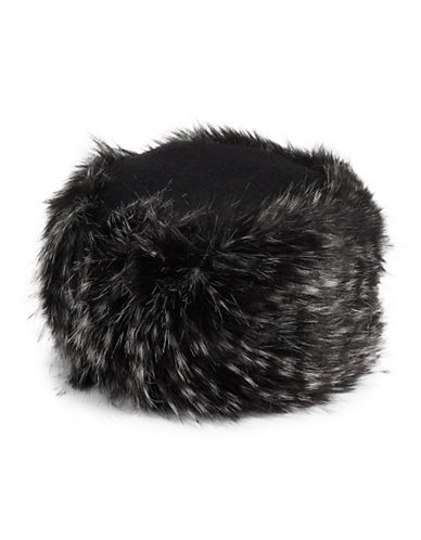 Parkhurst Wool Faux Fur Cossack Hat-BLACK-One Size