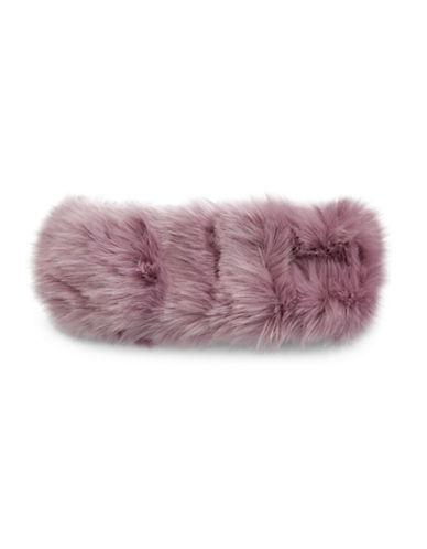 Parkhurst Arctic Leopard Faux Fur Headband-LILAC-One Size