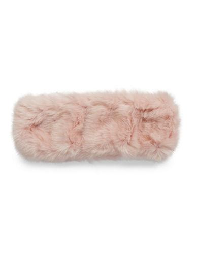 Parkhurst Arctic Leopard Faux Fur Headband-PINK-One Size