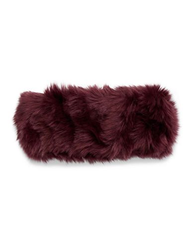 Parkhurst Arctic Leopard Faux Fur Headband-RED-One Size