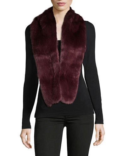 Parkhurst Faux-Fur Scarf-RED-One Size